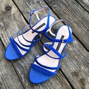 French Connection Winetta Sandals 8.5 Blue